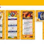 Изготовление, печать всех видов календарей: квартальных, настенных, карманных, домиком в типографии Печатный двор
